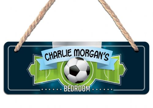 Personalised FOOTBALL Hanging Door Sign Plaque N22